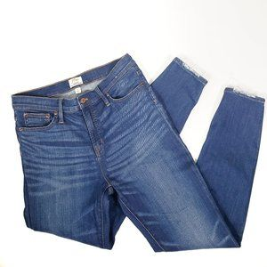 J Crew High Rise Jeans Lookout Skinny Dark Size 28